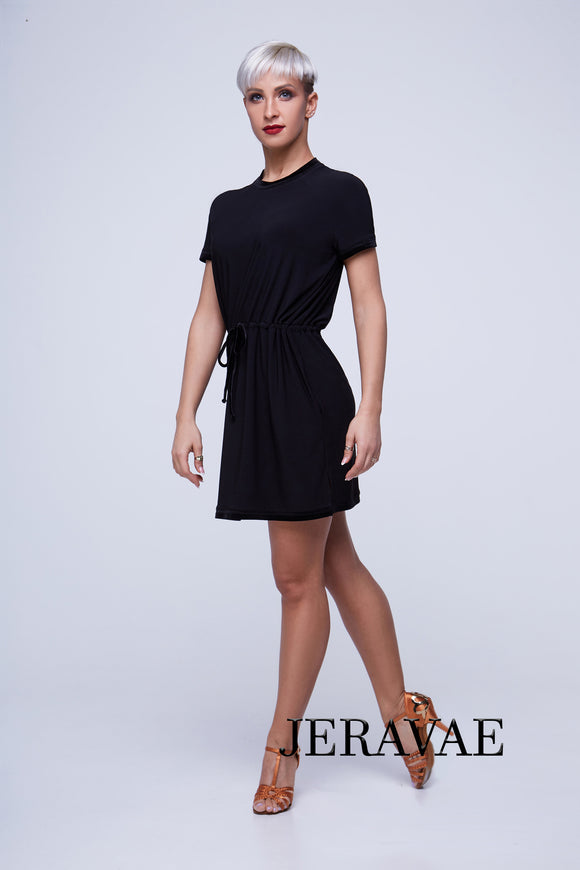 Super Short T-Shirt Style Latin Practice Dress with Cord Belt Pra409