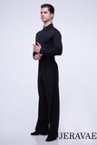 Men's or Boy's Ballroom/Smooth Competition Shirt with French Cut Sleeves and Built in Bodysuit Available in Black or White M019