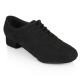 Ray Rose Men's Black Ballroom Shoe with Split Sole Flexibilty in Patent and Suede Windrush 335