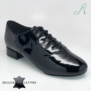 Mens Black Ballroom Shoe with Split sole Flexabilty in Patent and Suede Windrush 335