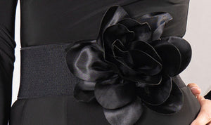 Silk Flower Elastic Belt B901