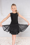 Girls Short Dance America Mesh Skirt