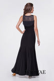 Sleeveless Ballroom Practice Dress with Fringe Detail on Collar and Back and Wrapped Horsehair Hem Pra624