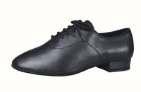 Dance America Men's Ballroom Shoe with Shock Absorbing Heel Manhattan