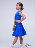 Royal Blue Girl Dress With Lace Body BRK005