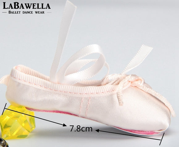 Patricia Pink Ballet Pointe Shoe Keychain with Optional Zipper for Coins