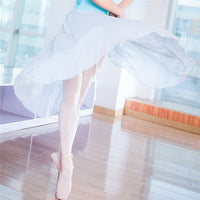 Aurelia Long Adult Chiffon Ballet Wrap Skirt with Satin Tie. Available in 7 Colors
