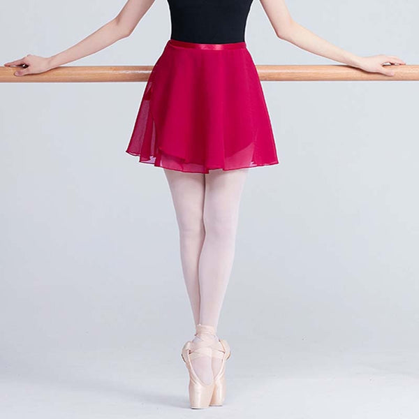 Olivia Ballet Dance Skirt for Adult or Children Chiffon with Satin Ribbon Tie Closure.  Available in 9 Colors
