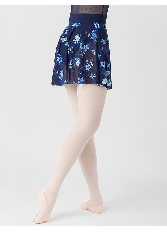 Ava Ladies Floral Chiffon Ballet Skirt with Soft Waist Band.  Available in 2 Colors