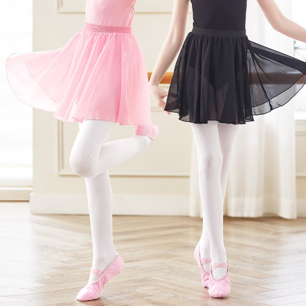 Annie Girls Chiffon Ballet Skirt With Elastic Waist Band Available in 12 Colors