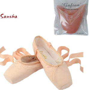 Sveta Canvas or Satin XC-4024 Ballet Pointe Shoes by Sansha for Wide Feet
