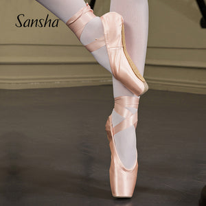 Sansha  Updated 3.0 Version FRD Professional Ballet Pointe Shoes With 3 different Shank Strengths
