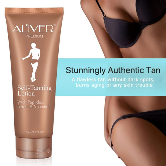 Al'iver Medium Color Self Tanning Lotion for Ballroom or Latin Competition.