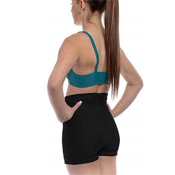 Bridget High Waisted Biker Dance Shorts, Hot Pants, Spanx for Ballet, Modern, Jazz, Tap, Hip Hop and Tumbling Available in 4 Colors