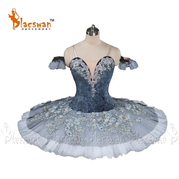 Bayla Professional Ballet Tutu in Grey and White Snow Queen Classical Ballet Stage Costume Platter Tutu