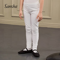Eric Boys Sansha  Footless Dance Tights/Pants with Elastic Waistband  Available in White or Black