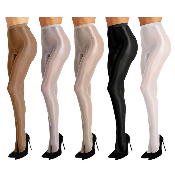Bernadine Womens Shimmer Footed Ballet Dance Tights Available in 5 Colors