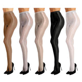 Bernadine Women's Shimmer Footed Ballet Dance Tights Available in Light Gray
