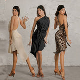 Versatile Latin Wrap Practice Dress with Single Shoulder Strap and Waist Tie.  Available in 3 Colors and One Size Fits All Pra493