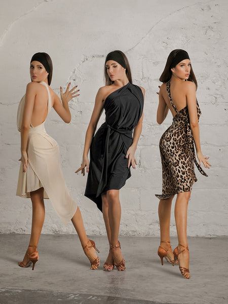 ZYMdancestyle Miss Muse Dress #19131 Women's Latin Practice Dress With Open Back and Waist Tie.  Available in Three Colors Pra530