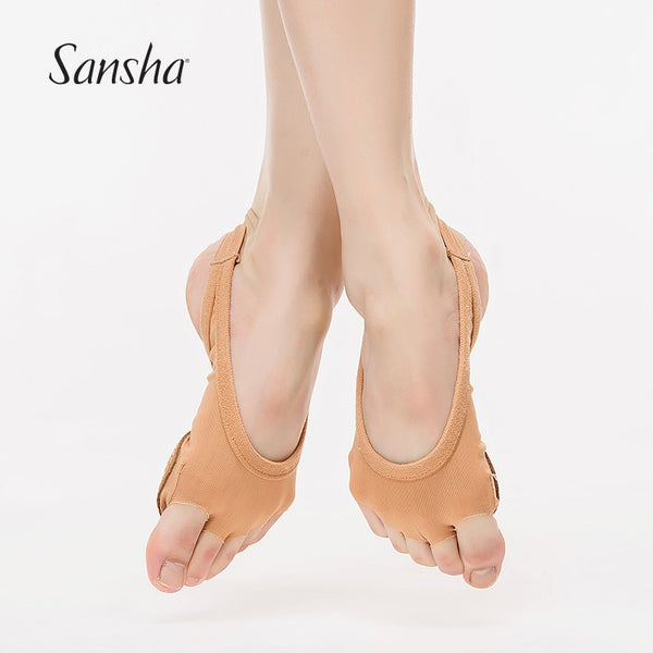 Sandrine Sansha  Elastic Mesh Paw Protective Foot Pad Thongs For Ballet Dance Forefoot Protector Choose Size