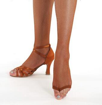 Sexy Fishnet Stockings Pantyhose for Professional Ballroom Dance without Toes