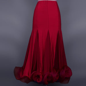 Long Lycra Ballroom Practice Dress with Horsehair More Colors Available S-XL Pra015
