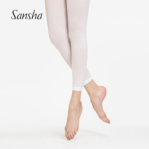 Sansha Footless Ballet Dance Tights, Great for Modern Available in  Black, Pink and White T87