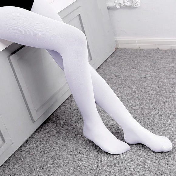 Beverly White or Tan Girl's or Boy's Footed Ballet Dance Tights Available in White and Pink Nude JERAVAE Brand