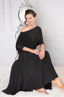 Womens Dance America Ballroom or Latin Dress Top with Long Sleeves and Rouched Waist T902_in