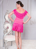 S022 - FRANGIA LATIN DANCE PRACTICE SKIRT BY DANCE AMERICA WITH LAYERS OF FRINGE