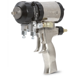246101 GRACO AIR PURGE FUSION SPRAY GUN WITH 01 ROUND MIXING CHAMBER ..