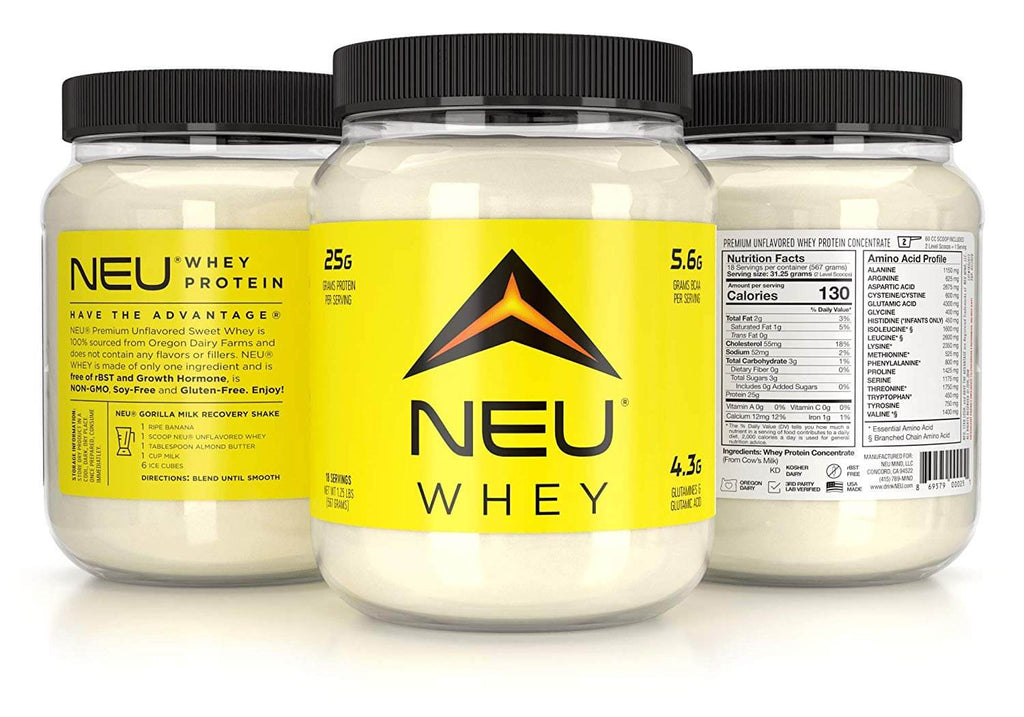 NEU Whey Unflavored 1.25 Lbs