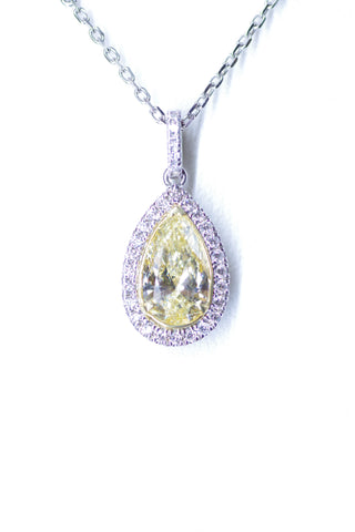 18k Two-Tone Yellow Diamond Pendant
