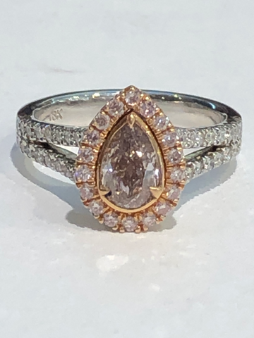 14k White & Rose Gold Diamond Engagement Ring