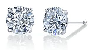 14k White Gold 2.02ct Diamond Studs