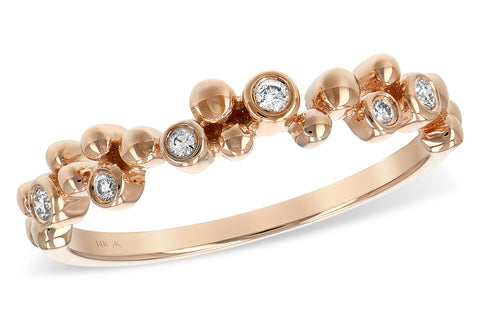 14k Rose Gold and Diamond Ring .08TW