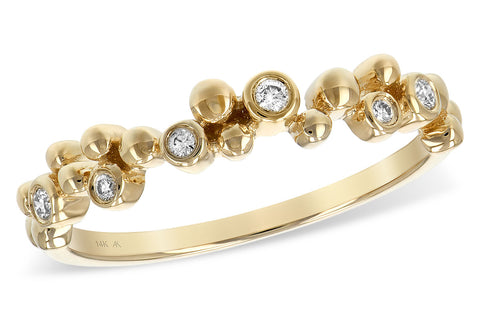14k Yellow Gold and Diamond Ring .08TW