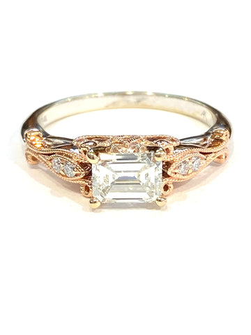 14k Two-Tone Diamond Wedding Ring