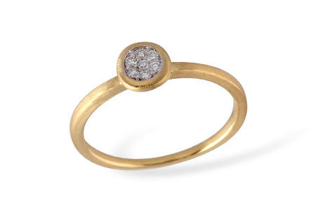 14K Yellow Gold Pave' Diamond Ring