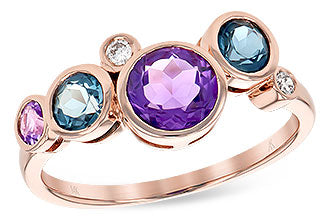 14k Rose Gold Semi-Precious Stone Ring