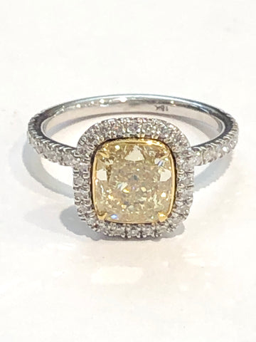 18k Yellow Diamond Engagement Ring