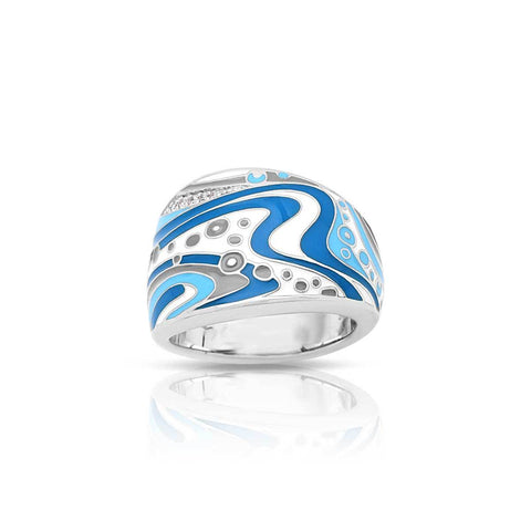 Sterling Silver Enameled Ring