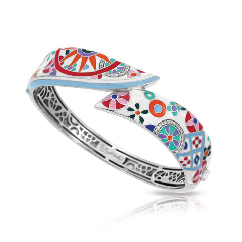 Sterling Silver Enameled Bangle