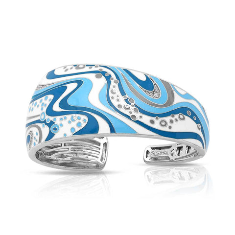 Sterling Silver Enameled Bangle Bracelet