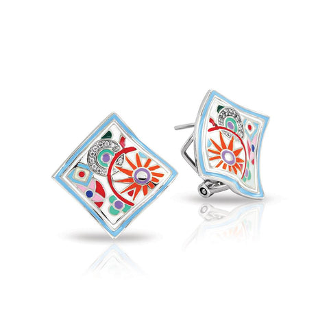 Sterling Silver Enameled Earrings