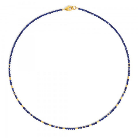 Sterling Gold Plated Lapis Necklace