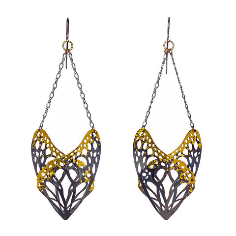 Camille Torres Slumber Earrings in Sterling and 24k Gold