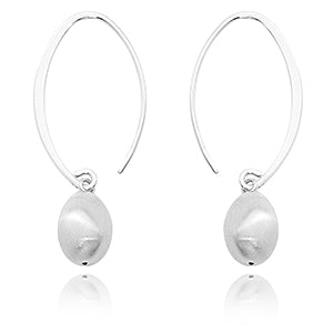 14k Sterling Silver Simple Sweep Earrings