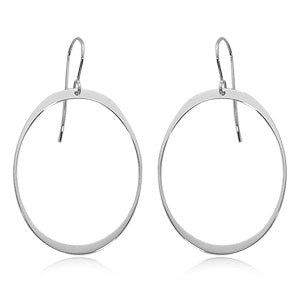 Sterling Oval Drop Earrings